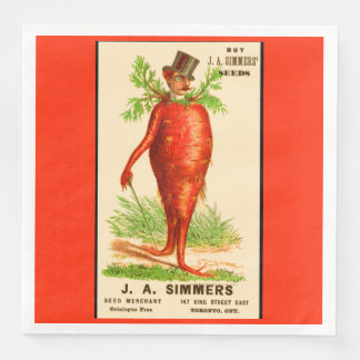 carrot man Victorian trade card Paper Napkin