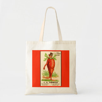 carrot man Victorian trade card Tote Bag