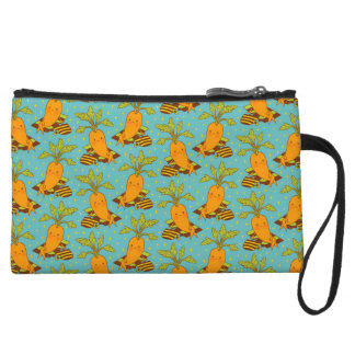 Carrot on Vacation Wristlet Clutches