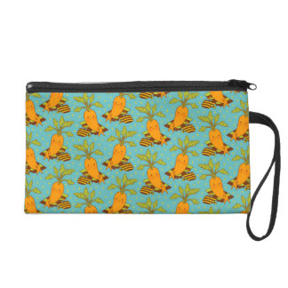 Carrot on Vacation Wristlet Purse
