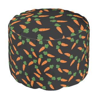 Carrot pattern pouf