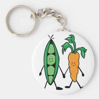 Carrot & Peas Basic Round Button Key Ring