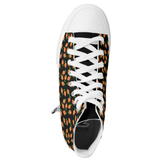 carrot printed shoes