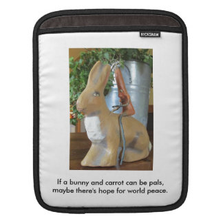 Carrot & Rabbit = Peace for the World? iPad Sleeve