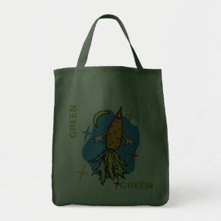 Carrot Rocket Ship Also known as Fast Food Tote Bag