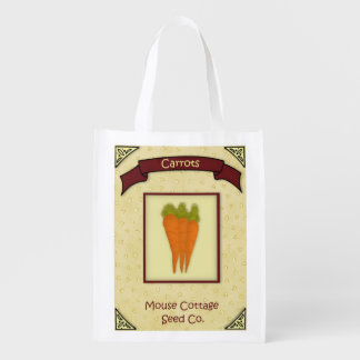 Carrot Seeds Reusable Grocery Bag
