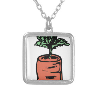 Carrot Silver Plated Necklace