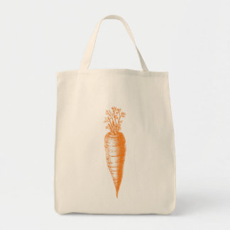Carrot Tote Grocery Tote Bag