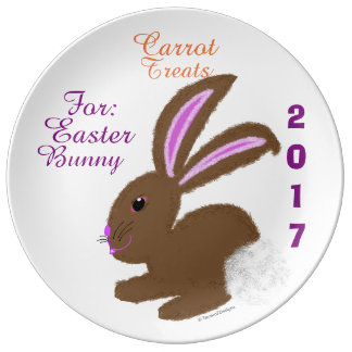 Carrot Treats for Easter Bunny Year Keepsake Plate