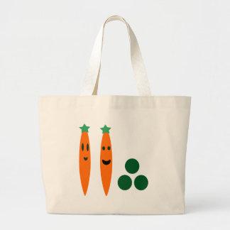 Carrots and Peas Jumbo Tote Bag