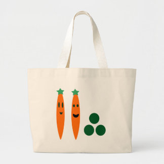 Carrots and Peas Large Tote Bag