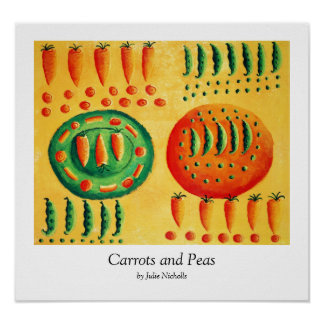 Carrots and Peas Poster