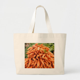 Carrots at Farmers market Tote Bags