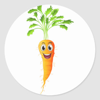 Carrots Classic Round Sticker