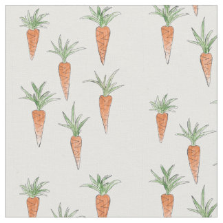 Carrots! Fabric