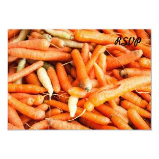 Carrots 9 Cm X 13 Cm Invitation Card