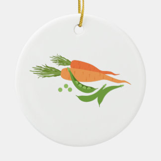 Carrots & Peas Ceramic Ornament