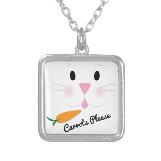 Carrots Please Square Pendant Necklace