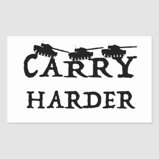 Carry Harder sticker