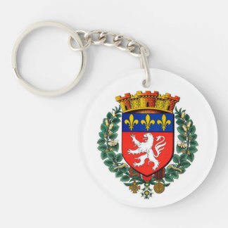 carry key acrylic resin Lyon blazon Key Ring