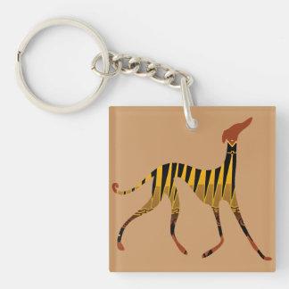 Carry key Azawakh sands Single-Sided Square Acrylic Key Ring
