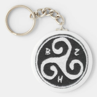 Carry key Brittany Basic Round Button Key Ring