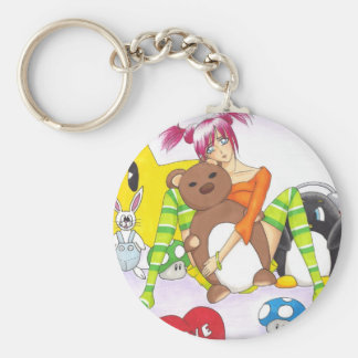 carry key cuddly toy basic round button key ring