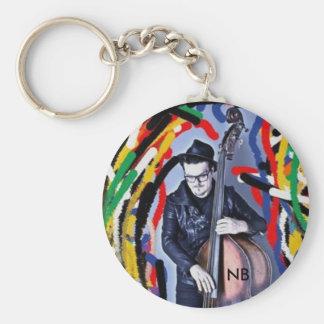 Carry key fun Nick Bresco Basic Round Button Key Ring