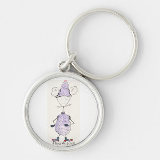 Carry key Grelotte mouse Silver-Colored Round Key Ring