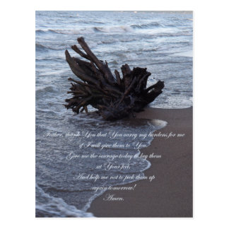 Carry My Burdens Prayer Postcard