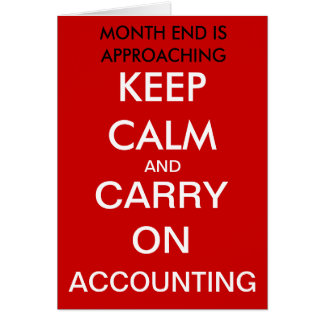 Carry on Accounting - Birthday Card