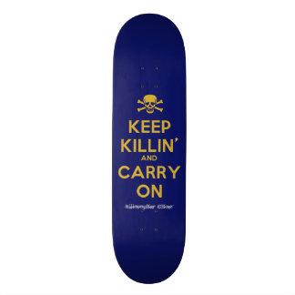 """Carry On"" Ghost Killosopher Apparel Deck Skateboard Decks"