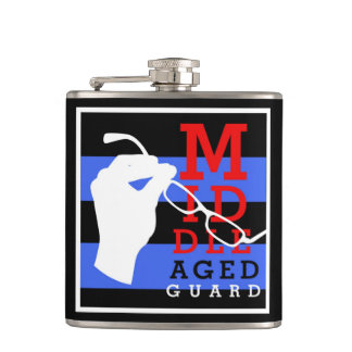 Carry some ... medicine... in this hip flask