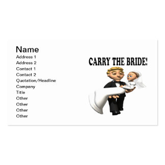 Carry The Bride 2 Pack Of Standard Business Cards