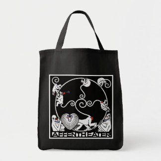 Carryall Bag: Jugendstil - Affentheater Grocery Tote Bag