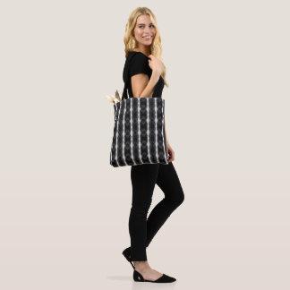 Carrying bag - black white fantasy striped