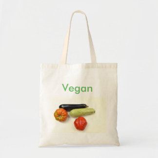 Carrying bag from material with the label Vegan