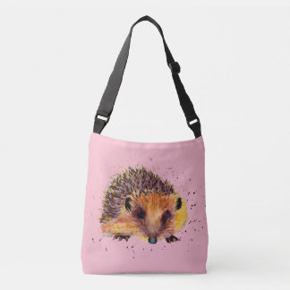 Carrying bag with handpainted hedgehog