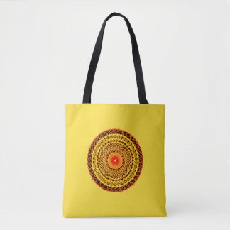 Carrying bag with Mandala in yellow and red