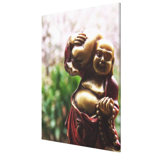 Carrying the Load Buddha Canvas Gallery Wrapped Canvas