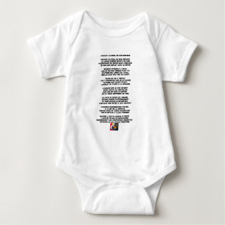 Carrying the Mourning of my Childhood - Poem Baby Bodysuit
