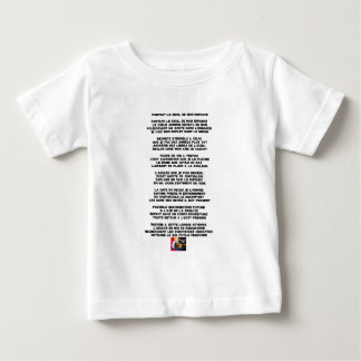 Carrying the Mourning of my Childhood - Poem Baby T-Shirt