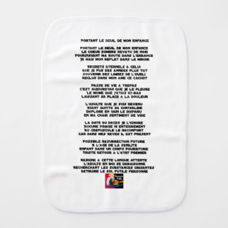 Carrying the Mourning of my Childhood - Poem Burp Cloth