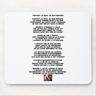 Carrying the Mourning of my Childhood - Poem Mouse Pad