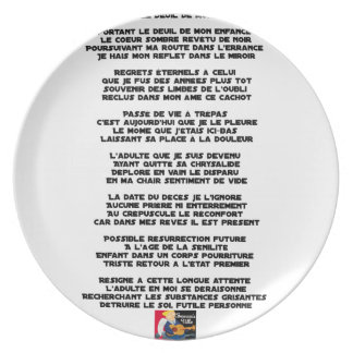 Carrying the Mourning of my Childhood - Poem Plate