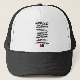 Carrying the Mourning of my Childhood - Poem Trucker Hat