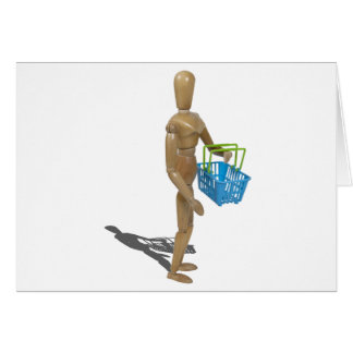 CarryingShoppingBasket101311 Greeting Card