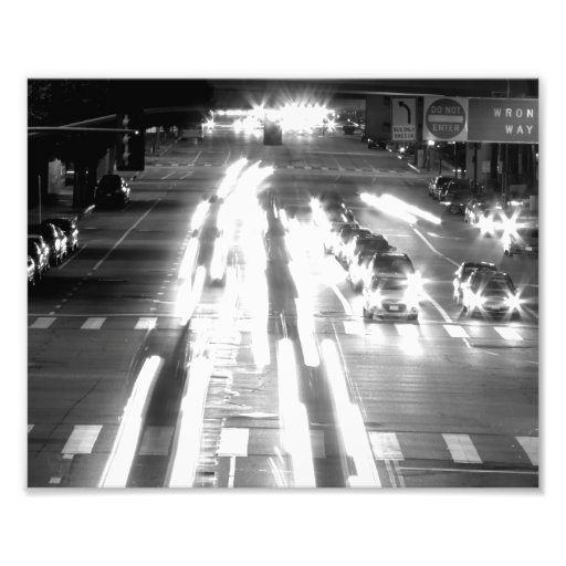 Cars And Movement Black And White Art Photo