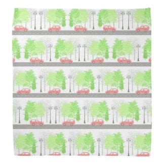Cars and trees bandana