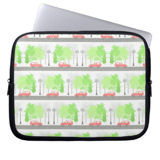Cars and trees laptop sleeve